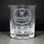 Scotch Whisky Glass, PERSONALISED, ref SWCW